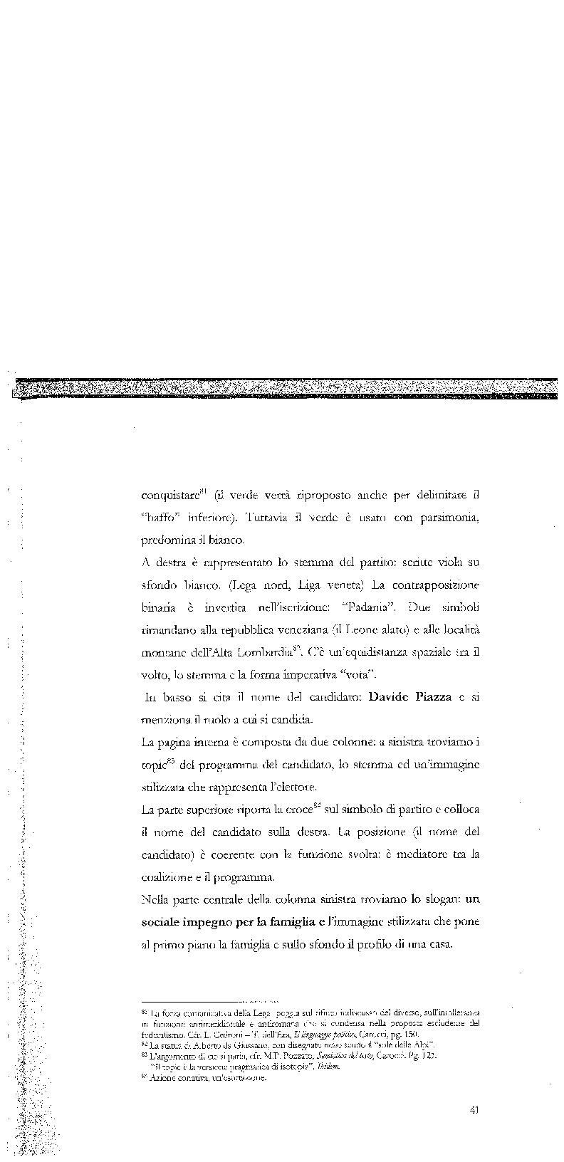 Anteprima della tesi: Strategie di persuasione elettorale durante le regionali 2005 in Veneto, Pagina 11