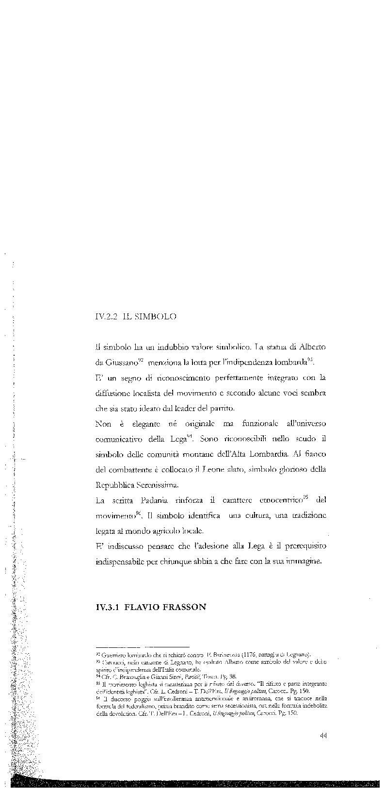 Anteprima della tesi: Strategie di persuasione elettorale durante le regionali 2005 in Veneto, Pagina 14