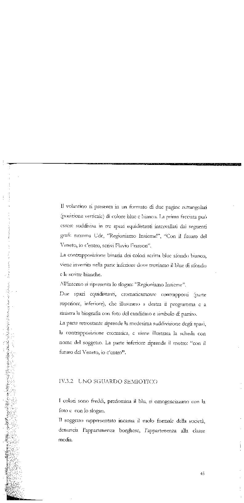 Anteprima della tesi: Strategie di persuasione elettorale durante le regionali 2005 in Veneto, Pagina 15