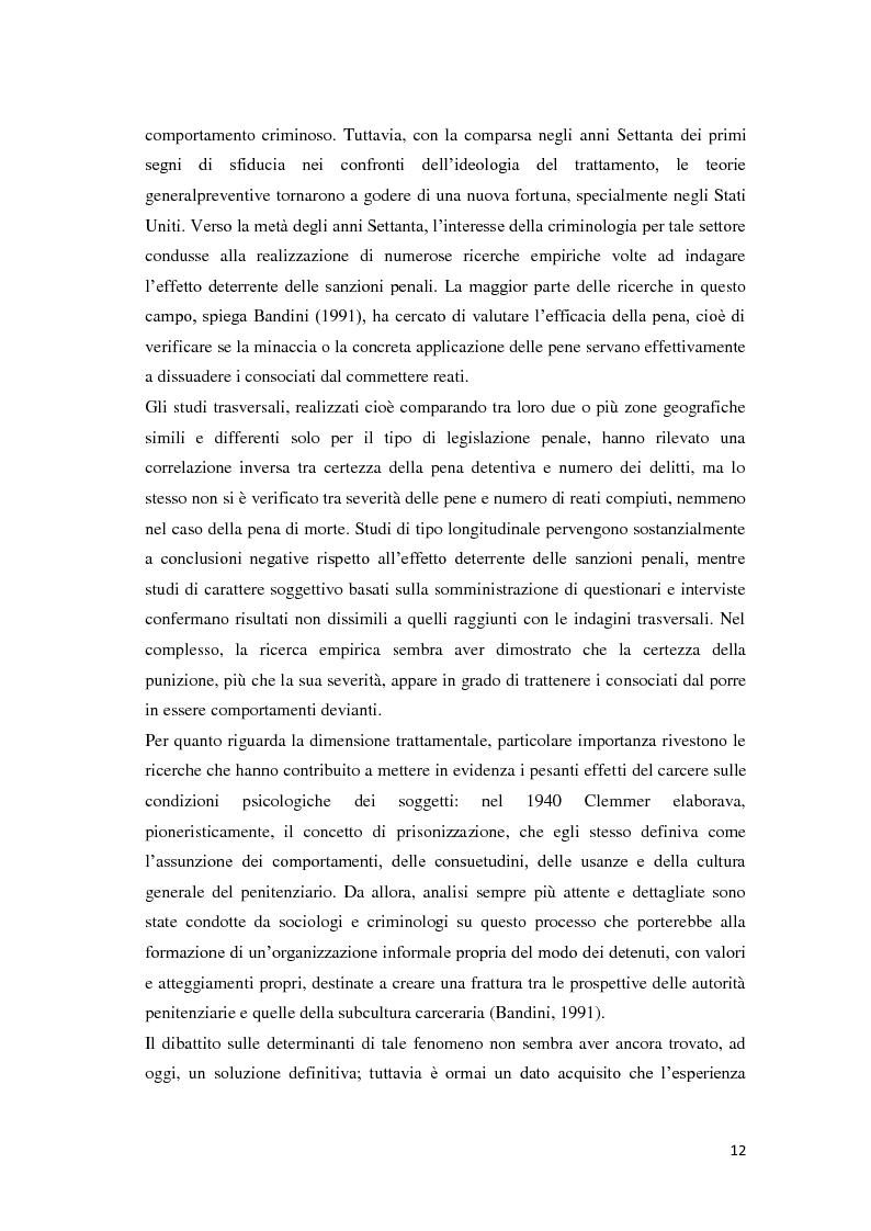 Anteprima della tesi: Tra carcere e territorio: la sperimentazione dell'agente di rete per il reinserimento sociale dei detenuti. L'esperienza della casa circondariale di Bergamo., Pagina 11