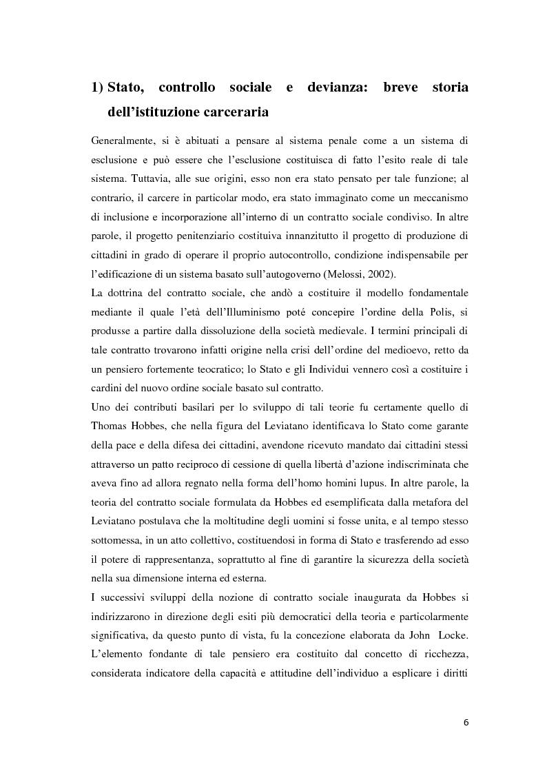 Anteprima della tesi: Tra carcere e territorio: la sperimentazione dell'agente di rete per il reinserimento sociale dei detenuti. L'esperienza della casa circondariale di Bergamo., Pagina 5