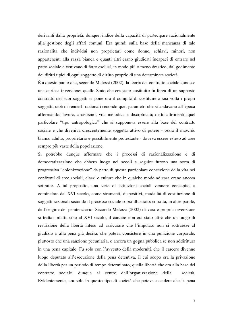 Anteprima della tesi: Tra carcere e territorio: la sperimentazione dell'agente di rete per il reinserimento sociale dei detenuti. L'esperienza della casa circondariale di Bergamo., Pagina 6