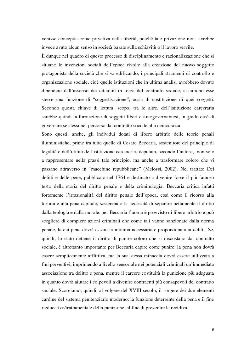 Anteprima della tesi: Tra carcere e territorio: la sperimentazione dell'agente di rete per il reinserimento sociale dei detenuti. L'esperienza della casa circondariale di Bergamo., Pagina 7