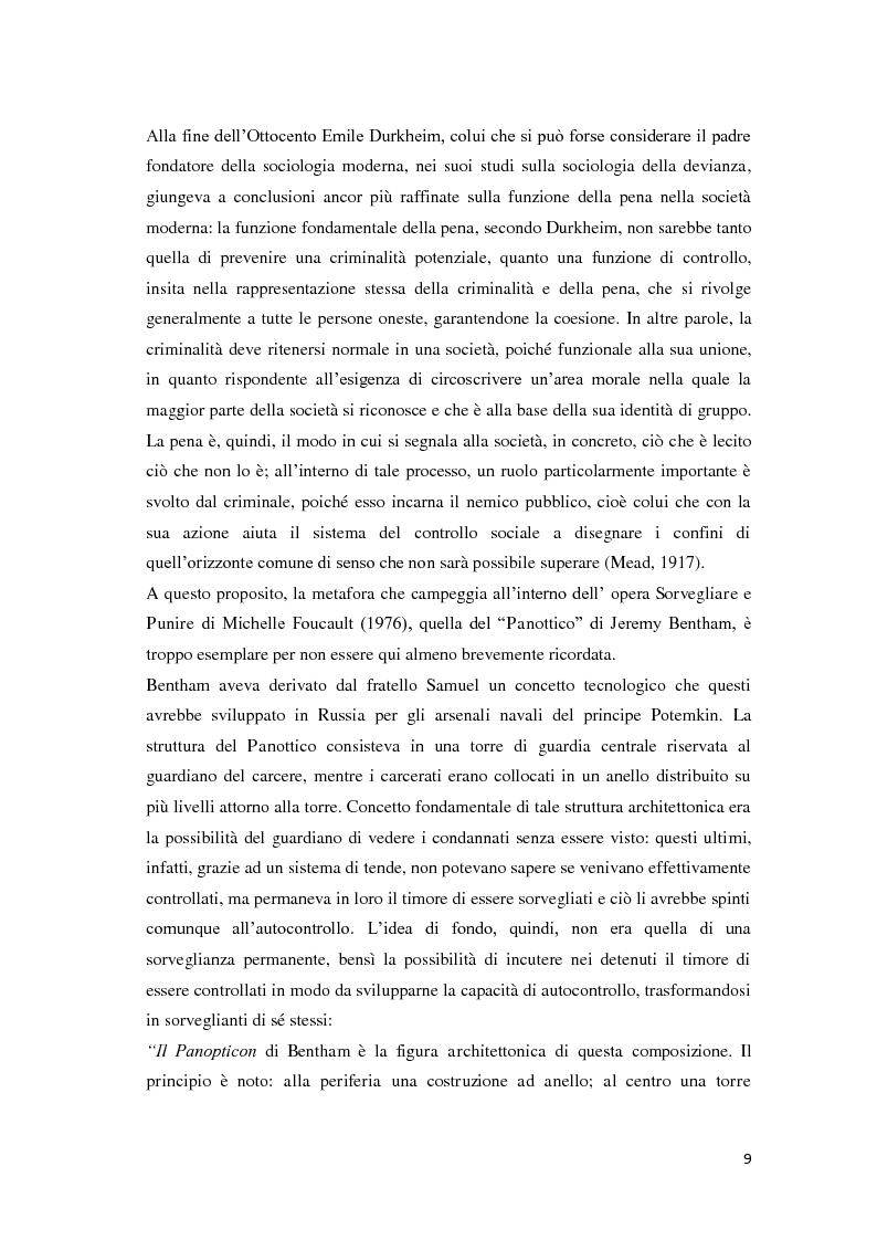Anteprima della tesi: Tra carcere e territorio: la sperimentazione dell'agente di rete per il reinserimento sociale dei detenuti. L'esperienza della casa circondariale di Bergamo., Pagina 8