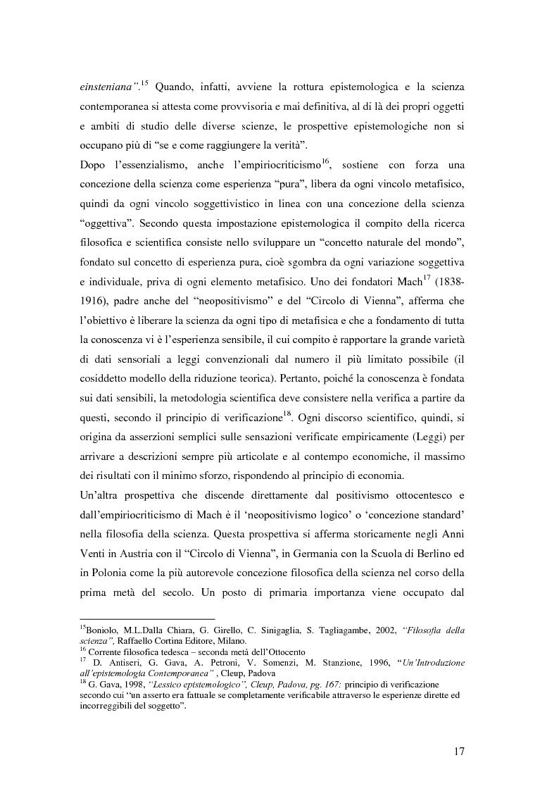 Anteprima della tesi: Rilievi epistemologici e metodologici della valutazione dell'efficacia in ambito socio-sanitario e una ricerca empirica in Sert di due regioni italiane, Pagina 10