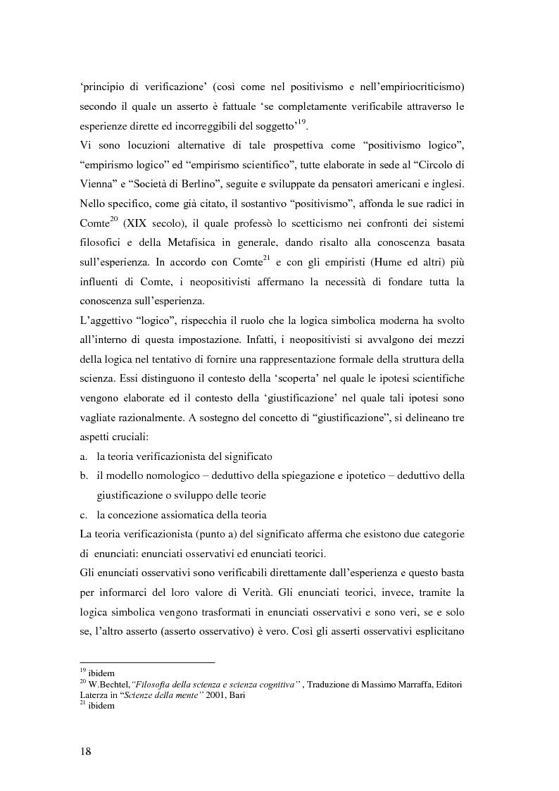 Anteprima della tesi: Rilievi epistemologici e metodologici della valutazione dell'efficacia in ambito socio-sanitario e una ricerca empirica in Sert di due regioni italiane, Pagina 11