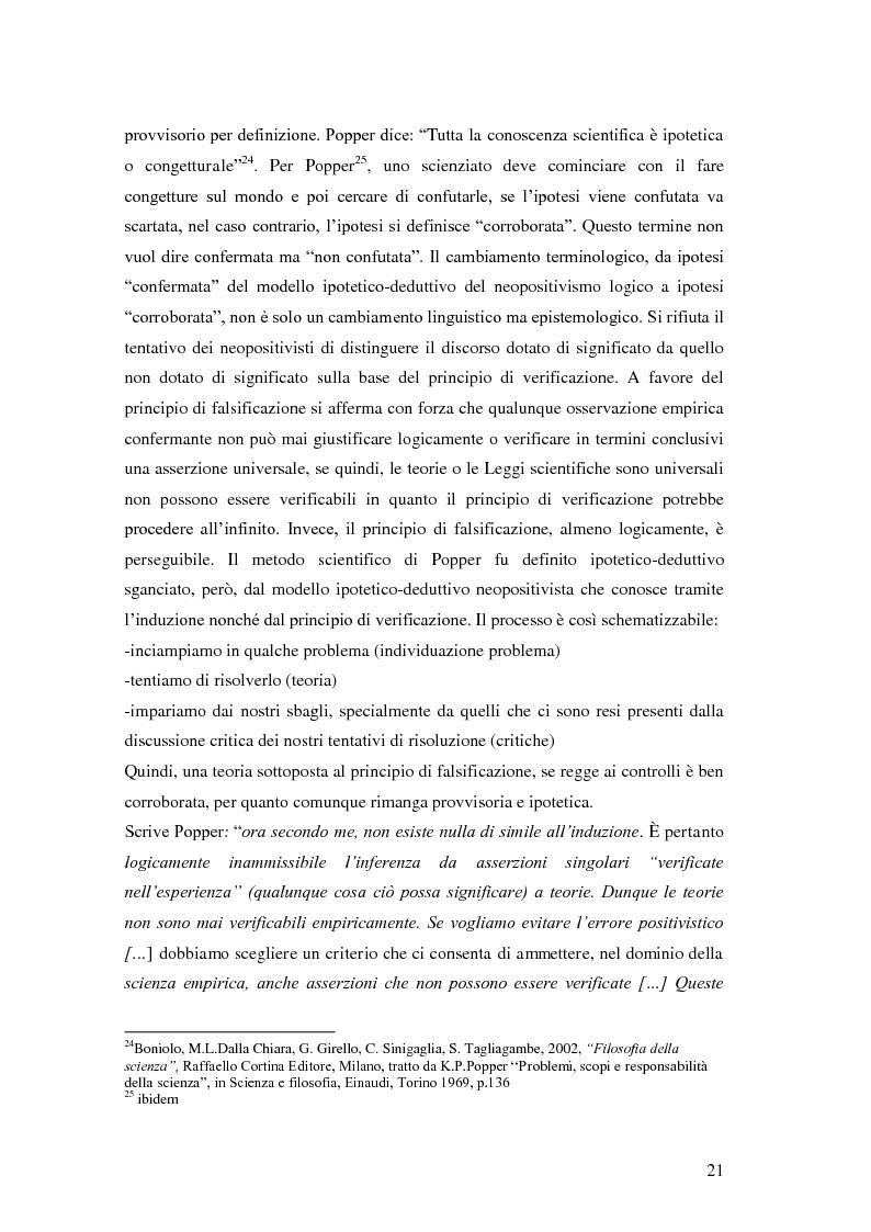 Anteprima della tesi: Rilievi epistemologici e metodologici della valutazione dell'efficacia in ambito socio-sanitario e una ricerca empirica in Sert di due regioni italiane, Pagina 14