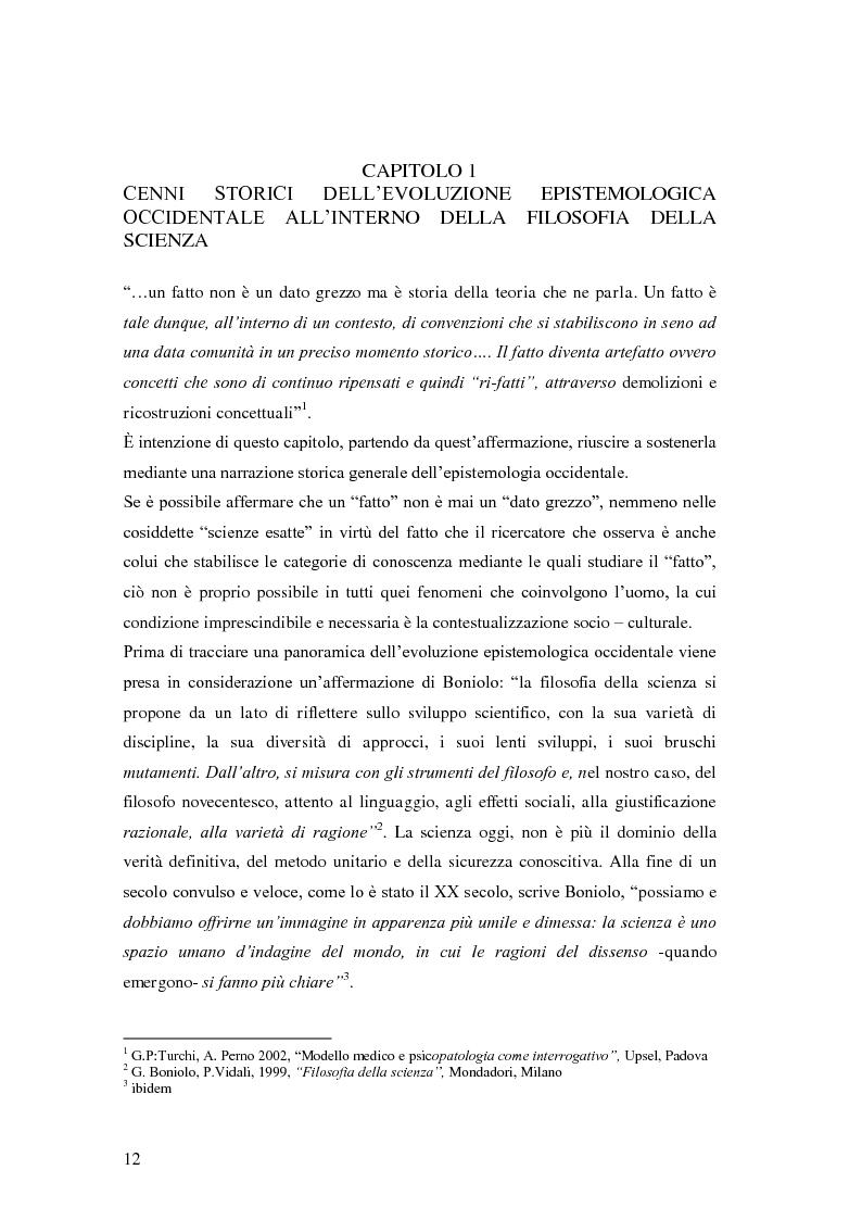 Anteprima della tesi: Rilievi epistemologici e metodologici della valutazione dell'efficacia in ambito socio-sanitario e una ricerca empirica in Sert di due regioni italiane, Pagina 5