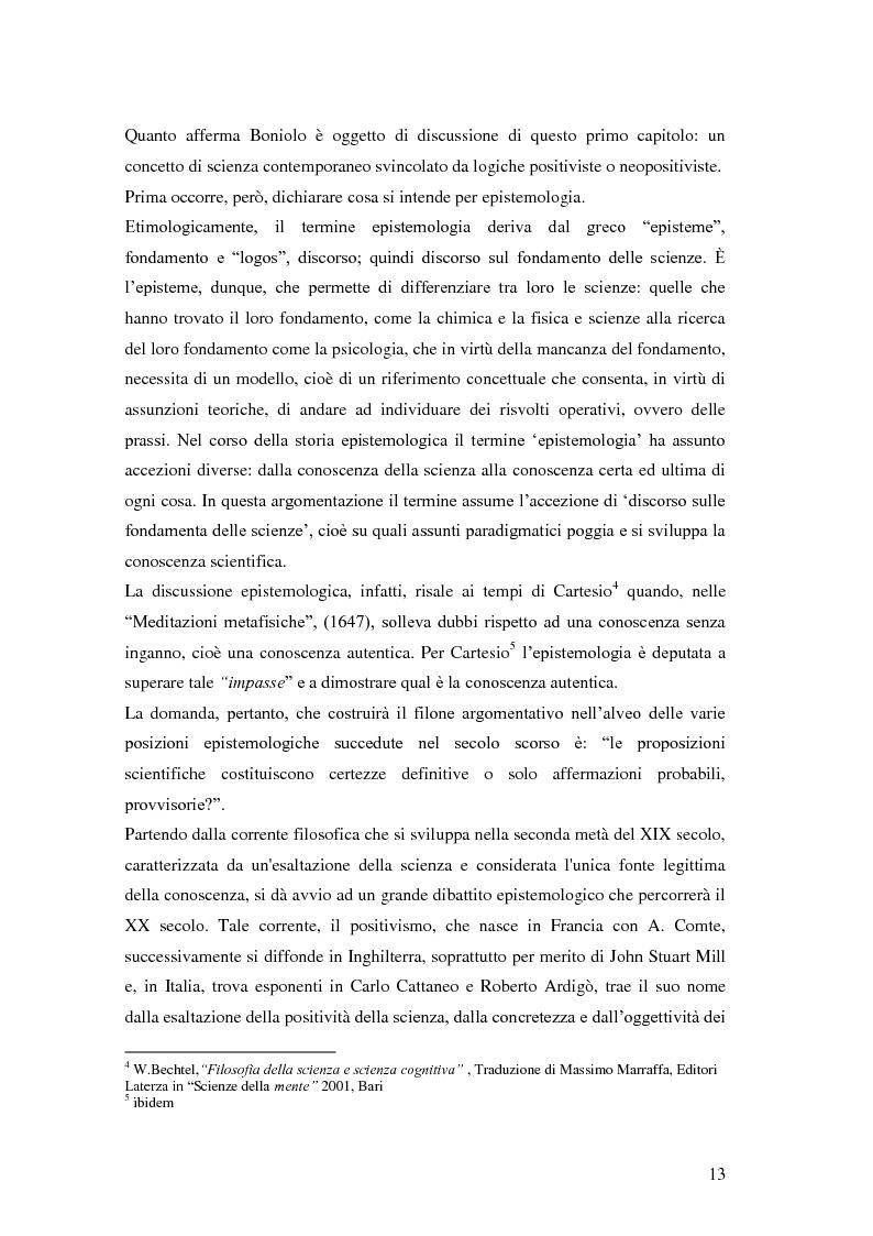 Anteprima della tesi: Rilievi epistemologici e metodologici della valutazione dell'efficacia in ambito socio-sanitario e una ricerca empirica in Sert di due regioni italiane, Pagina 6