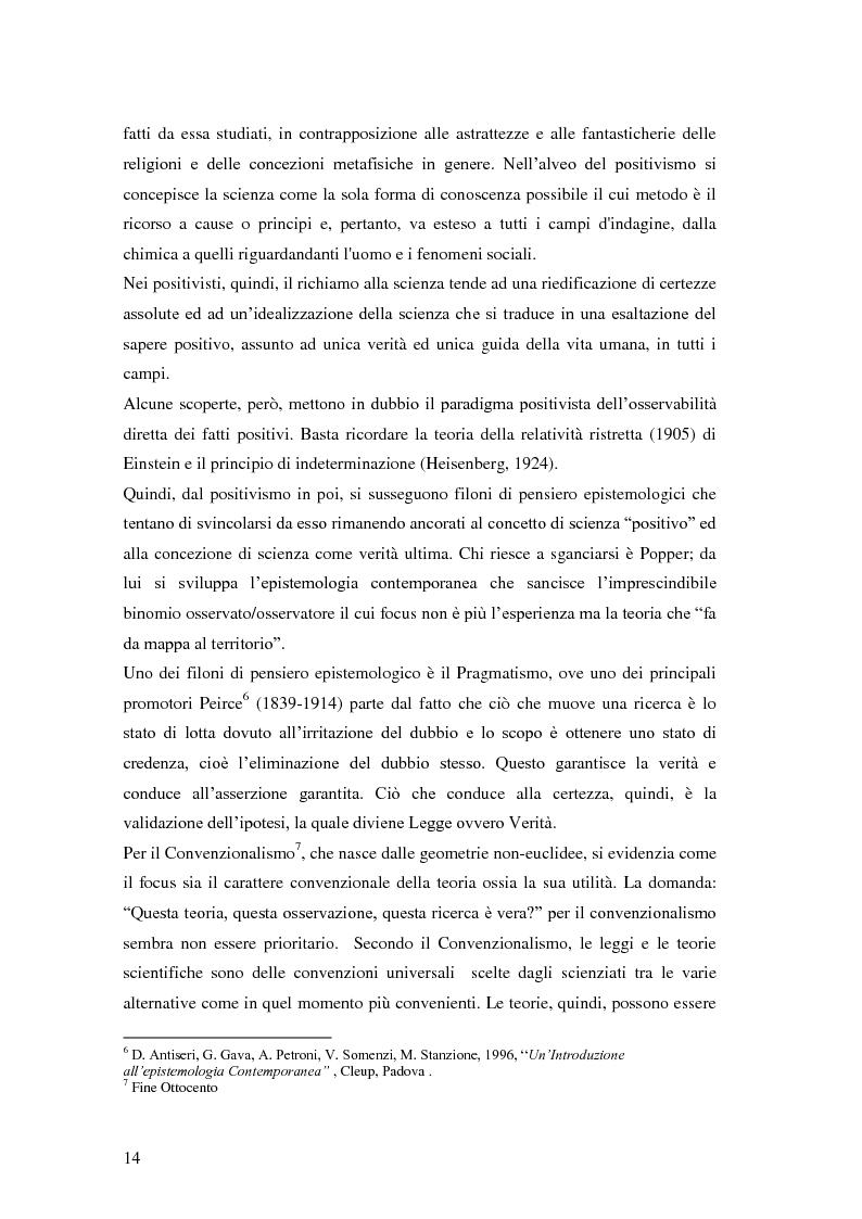 Anteprima della tesi: Rilievi epistemologici e metodologici della valutazione dell'efficacia in ambito socio-sanitario e una ricerca empirica in Sert di due regioni italiane, Pagina 7