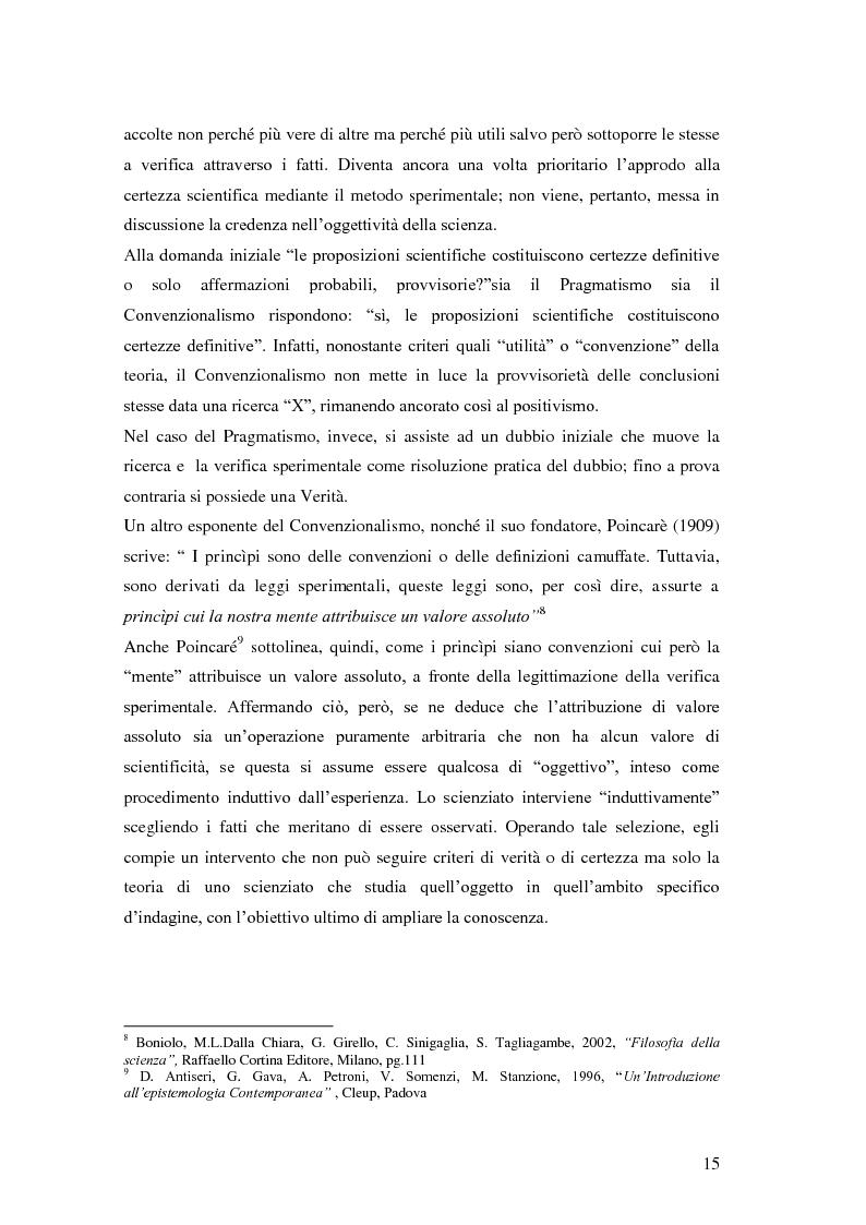 Anteprima della tesi: Rilievi epistemologici e metodologici della valutazione dell'efficacia in ambito socio-sanitario e una ricerca empirica in Sert di due regioni italiane, Pagina 8
