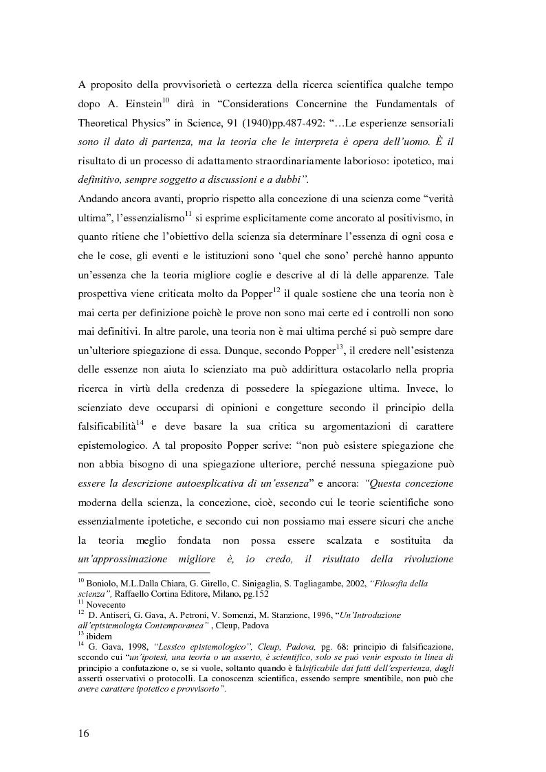 Anteprima della tesi: Rilievi epistemologici e metodologici della valutazione dell'efficacia in ambito socio-sanitario e una ricerca empirica in Sert di due regioni italiane, Pagina 9