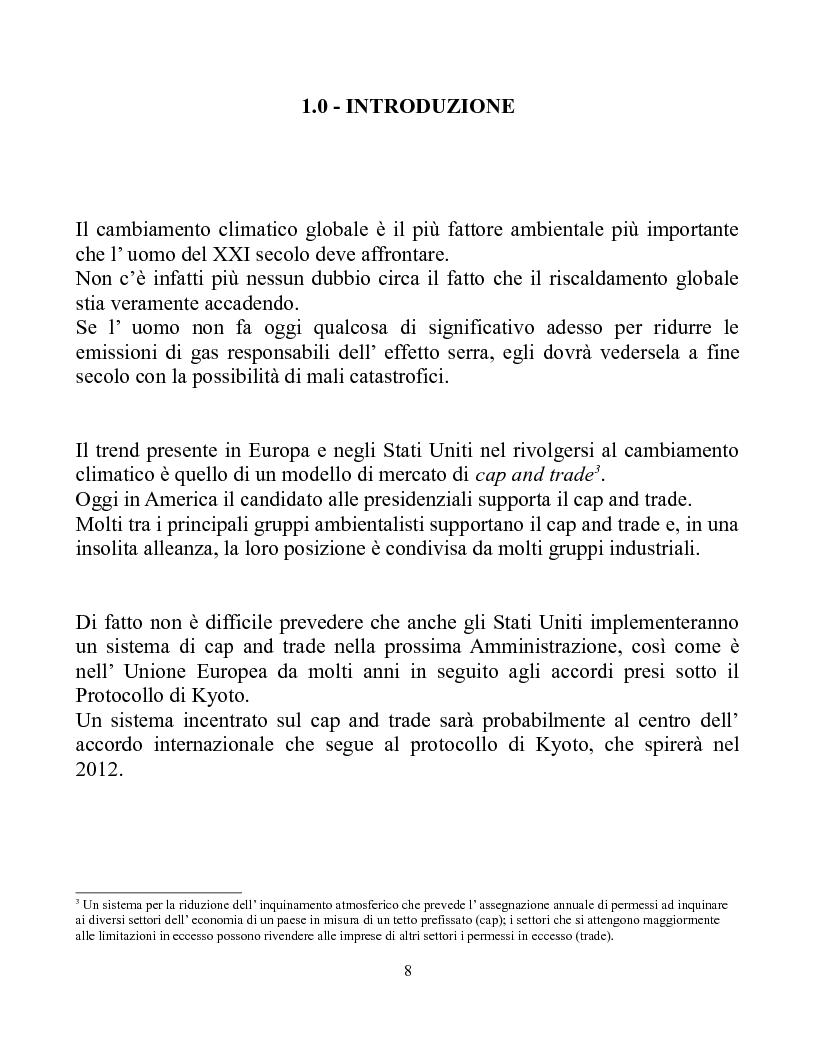 Anteprima della tesi: Una Carbon Tax è una risposta più efficace al Global Warming del Cap and Trade, Pagina 1