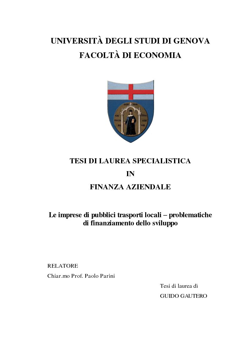Unige Tasse Economia : Universit? degli studi di genova facolt? economia tesi