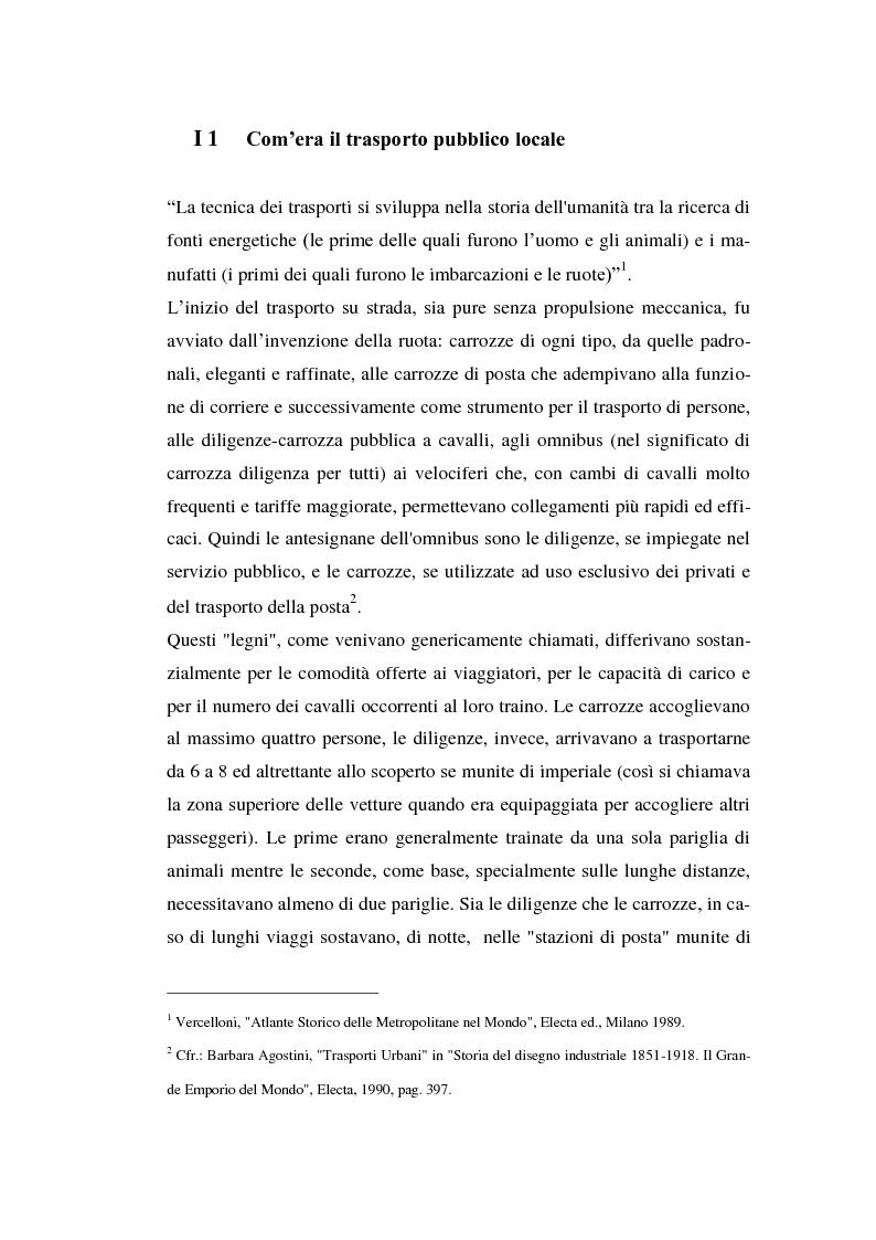 Anteprima della tesi: Le imprese di pubblici trasporti locali - Problematiche di finanziamento dello sviluppo, Pagina 2