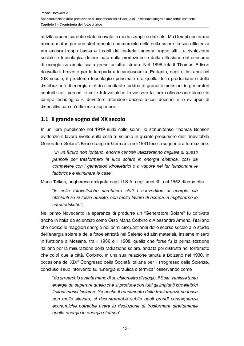 Anteprima della tesi: Impianti fotovoltaici. Sperimentazione della prestazione di impermeabilità all'acqua di un sistema integrato architettonicamente, Pagina 8