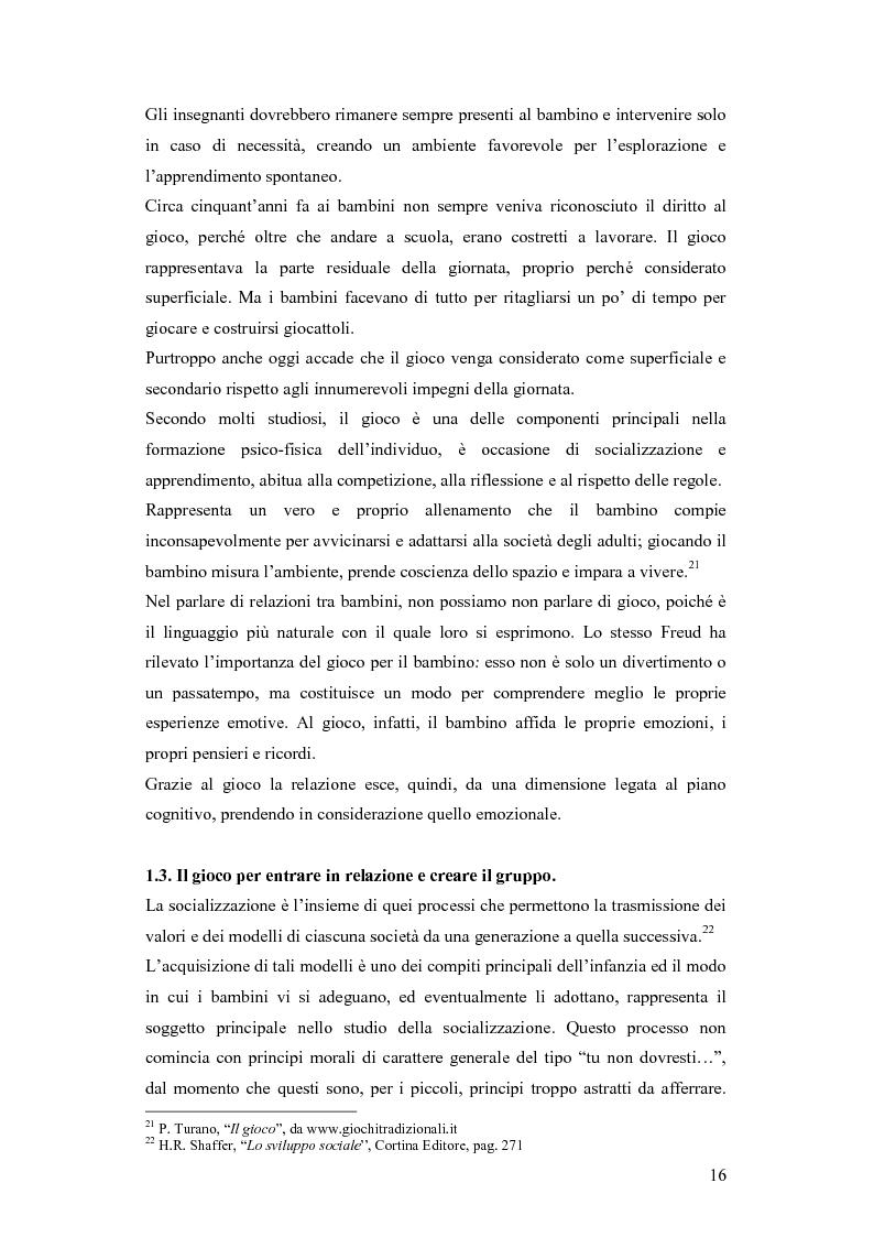 Estratto dalla tesi: Forme e metodi del gioco didattico nella scuola primaria