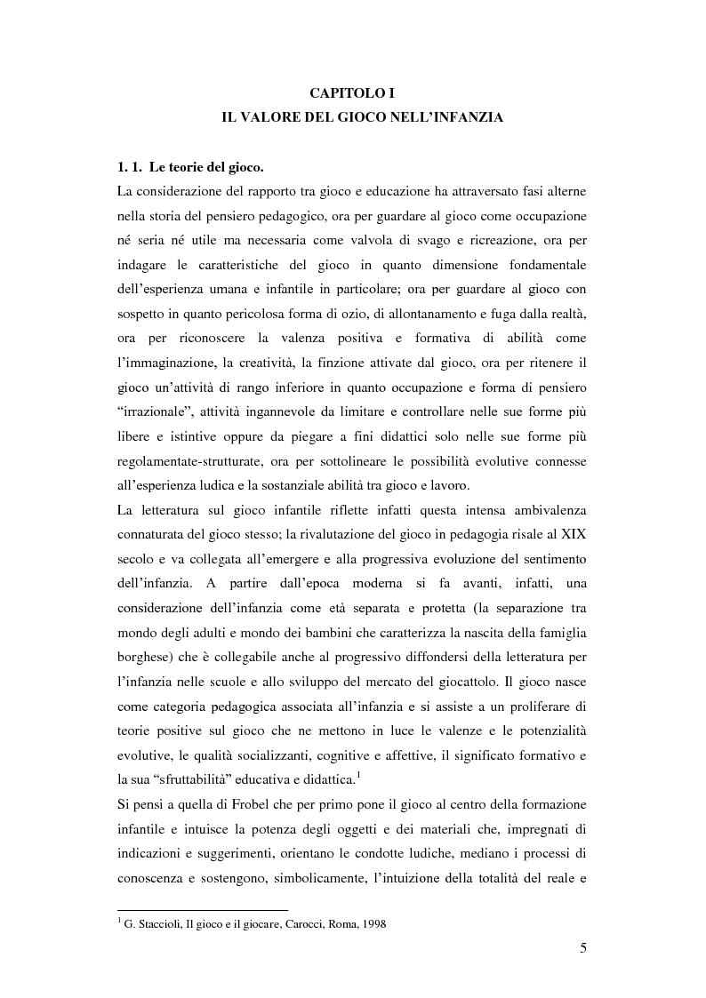 Anteprima della tesi: Forme e metodi del gioco didattico nella scuola primaria, Pagina 1