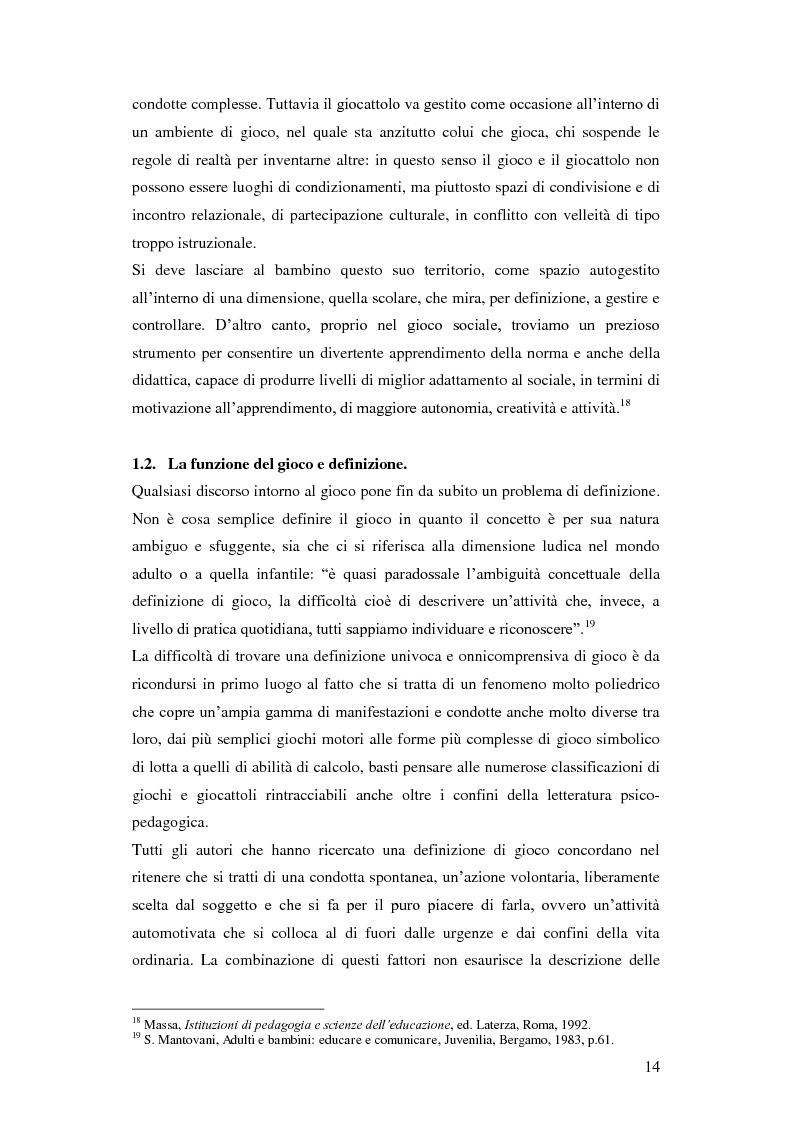 Anteprima della tesi: Forme e metodi del gioco didattico nella scuola primaria, Pagina 10