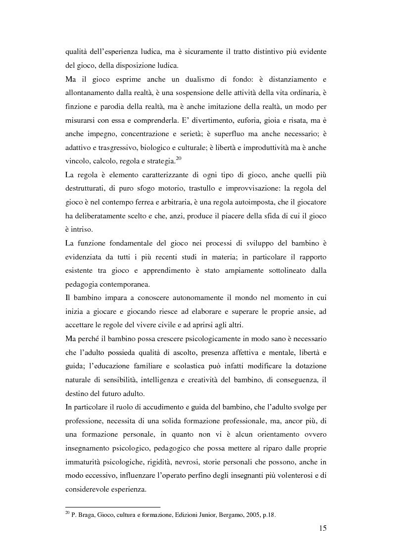 Anteprima della tesi: Forme e metodi del gioco didattico nella scuola primaria, Pagina 11