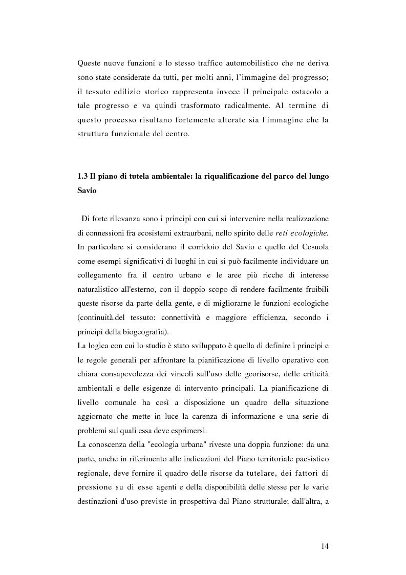 Estratto dalla tesi: Cesena. Un museo come porta della città