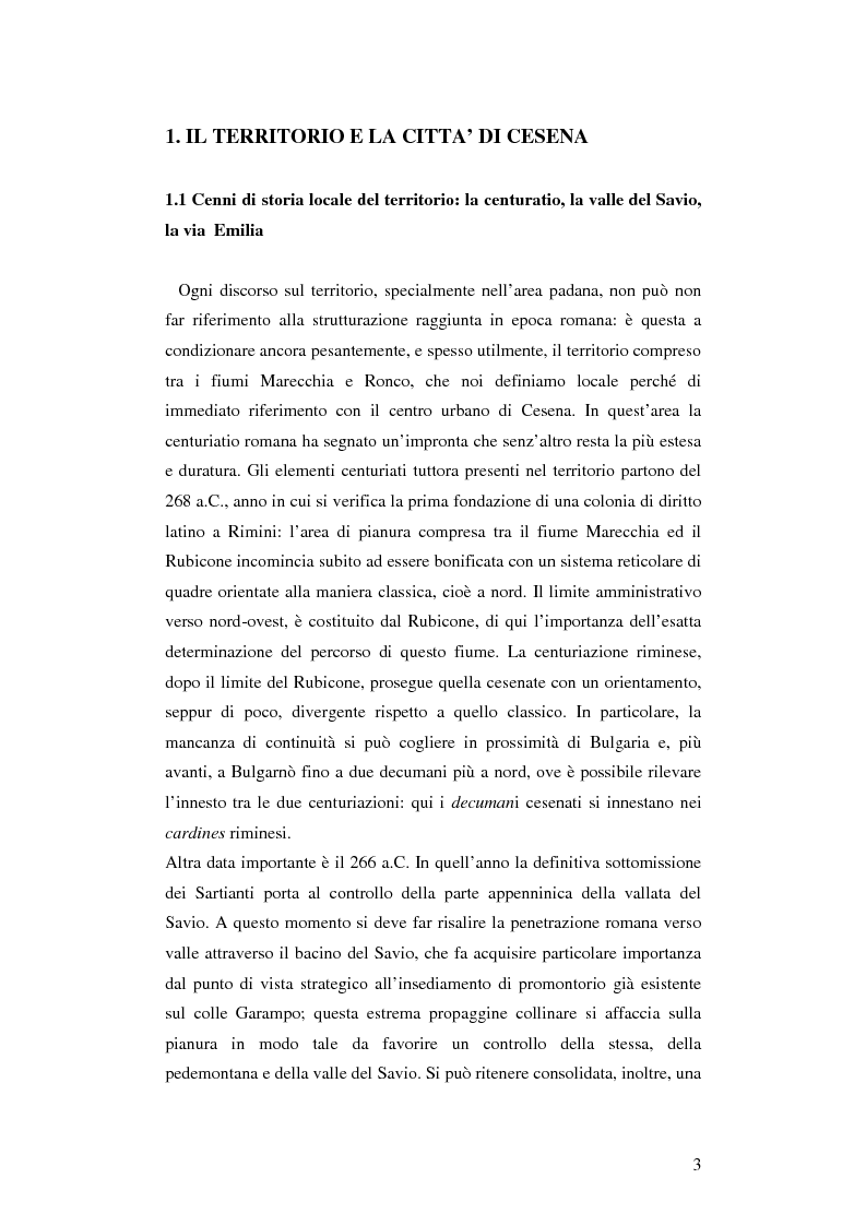 Anteprima della tesi: Cesena. Un museo come porta della città, Pagina 1