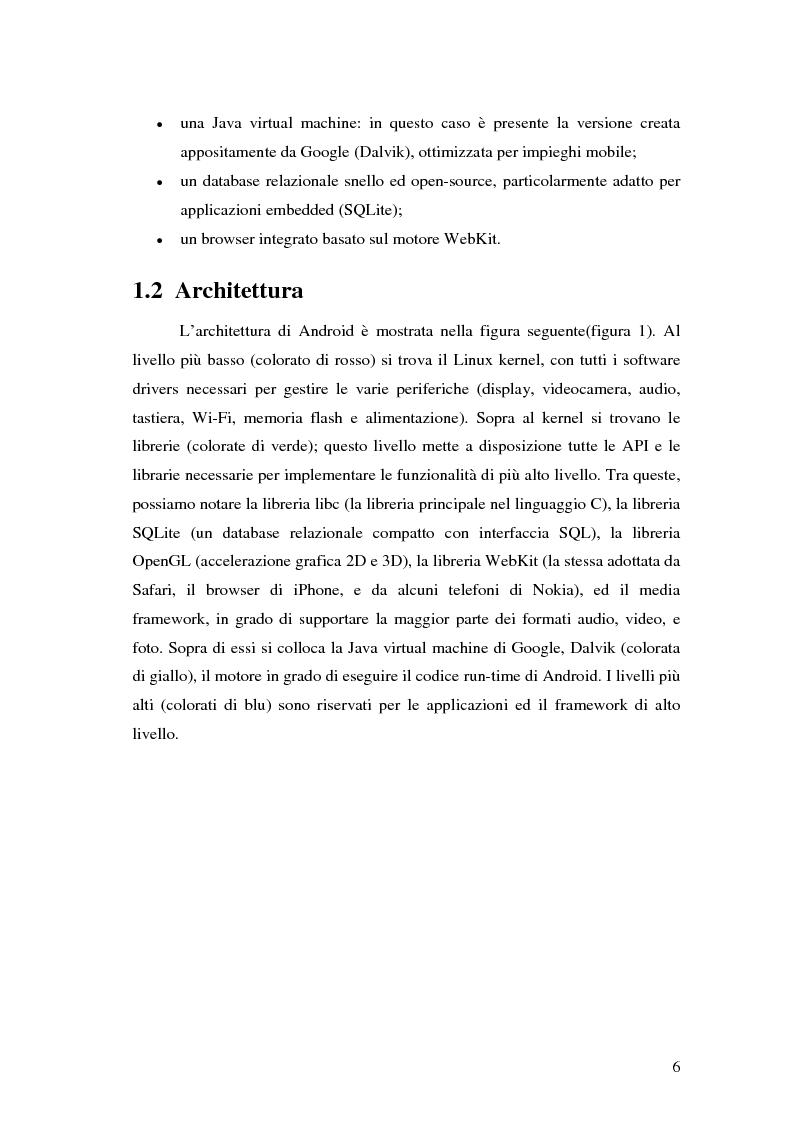 Anteprima della tesi: Progettazione e sviluppo di un'applicazione di recommendation per dispositivi mobili tramite la piattaforma Android, Pagina 2