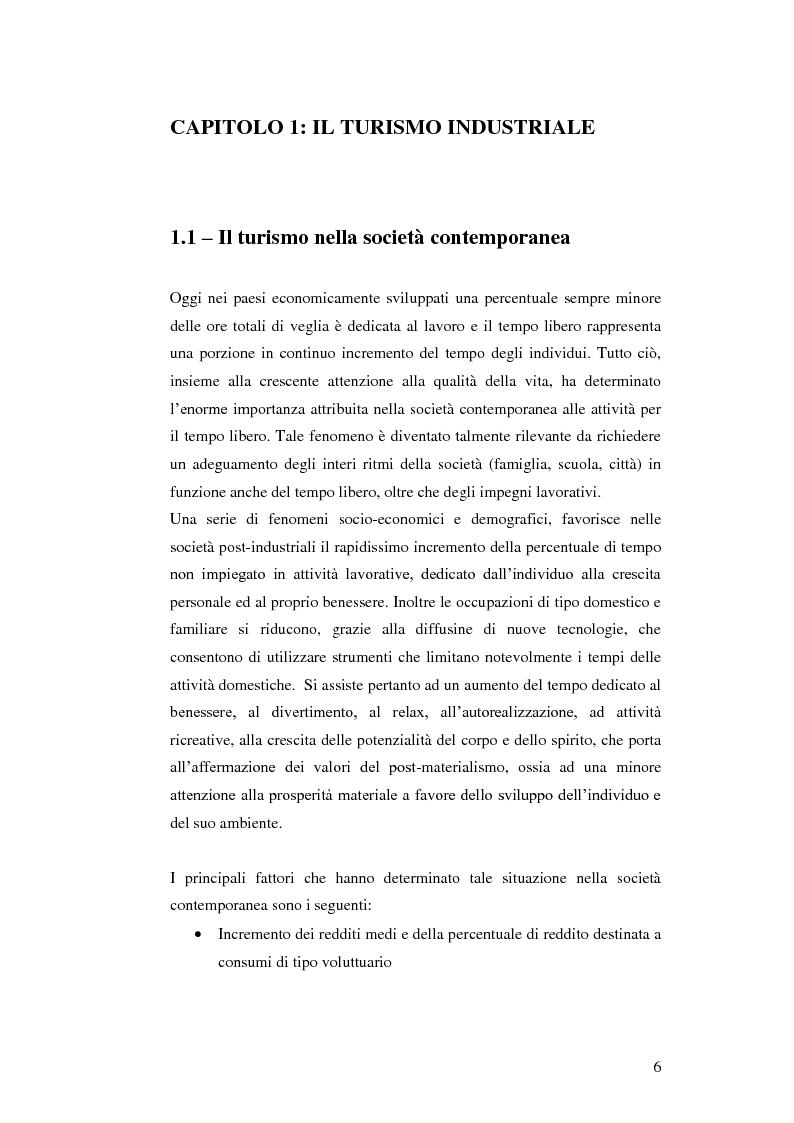 Le nuove frontiere del turismo industriale: la ''motor valley'' zona di eccellenza italiana - Tesi di Laurea
