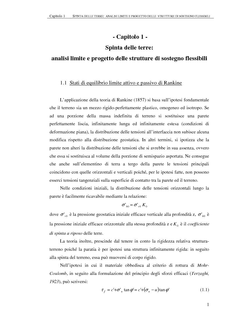 Studio del comportamento di una paratia con approcci analitici - Tesi di Laurea
