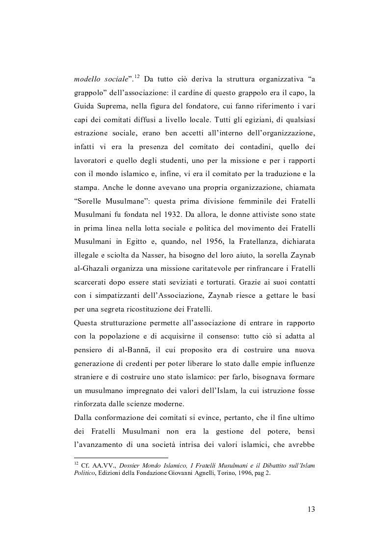 Anteprima della tesi: I Fratelli Musulmani nella letteratura araba del Novecento, Pagina 14