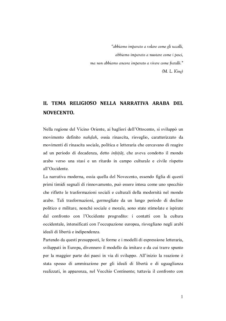 Anteprima della tesi: I Fratelli Musulmani nella letteratura araba del Novecento, Pagina 2