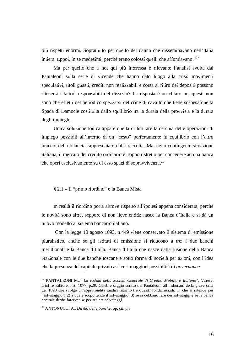 Estratto dalla tesi: La disciplina pubblica del credito