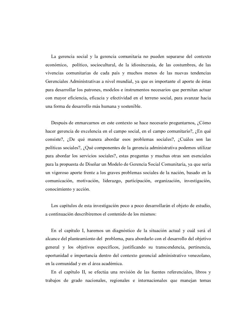 Anteprima della tesi: Diseño de un Modelo Gerencial Social Comunitario, Pagina 3