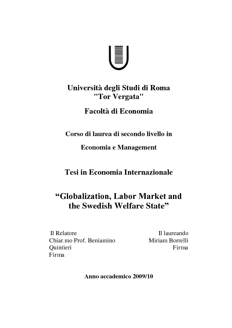 thesis labour market The dual labour market theory aims at introducing a broader range of factors into  economic research, such as institutional aspects, race and gender it divides.