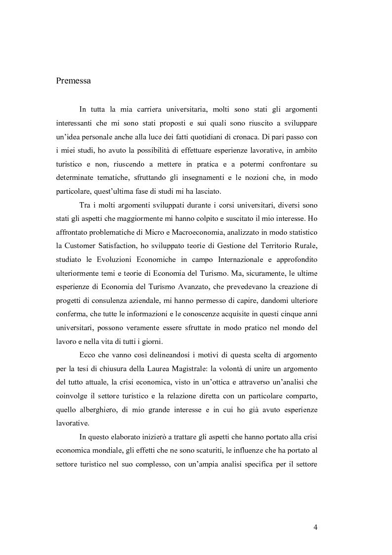 Gli effetti della crisi economica sul settore alberghiero di lusso a Venezia - Tesi di Laurea
