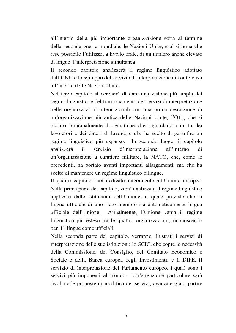 Anteprima della tesi: L'interpretazione di conferenza nelle organizzazioni internazionali, Pagina 5