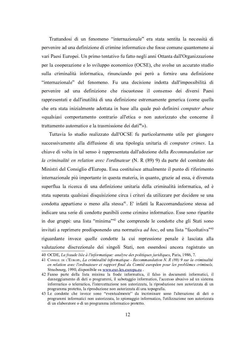 Estratto dalla tesi: La tutela penale del domicilio informatico