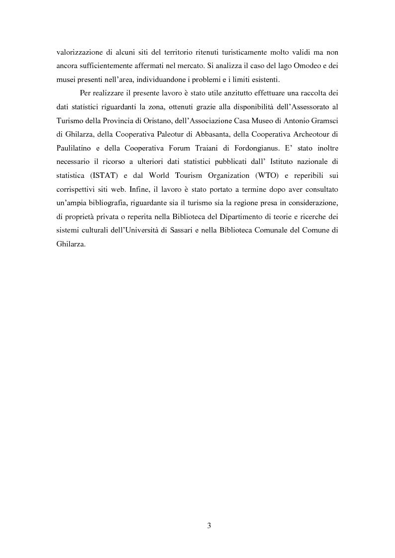 Anteprima della tesi: Analisi e ipotesi di sviluppo del sistema turistico del Guilcier, Pagina 3