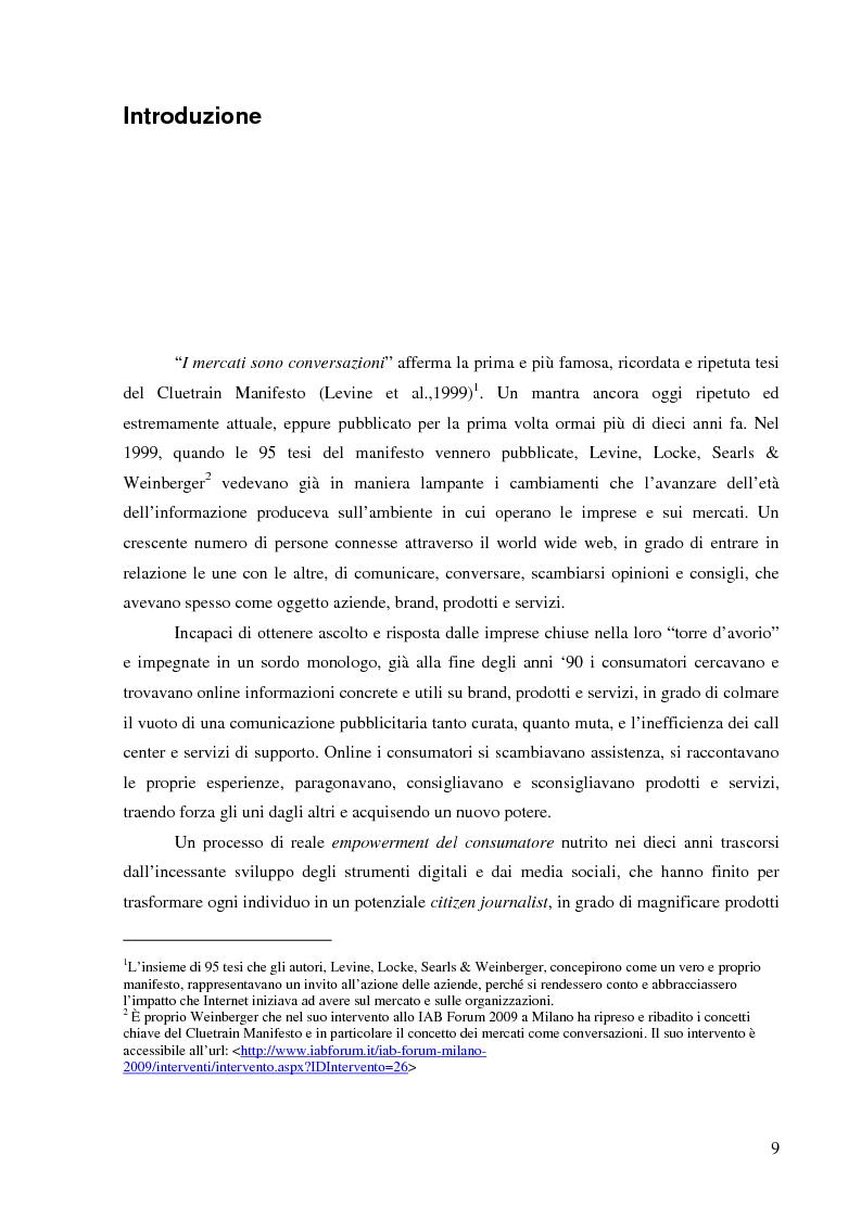 Strategie e strumenti per la gestione della reputazione online - Tesi di Laurea