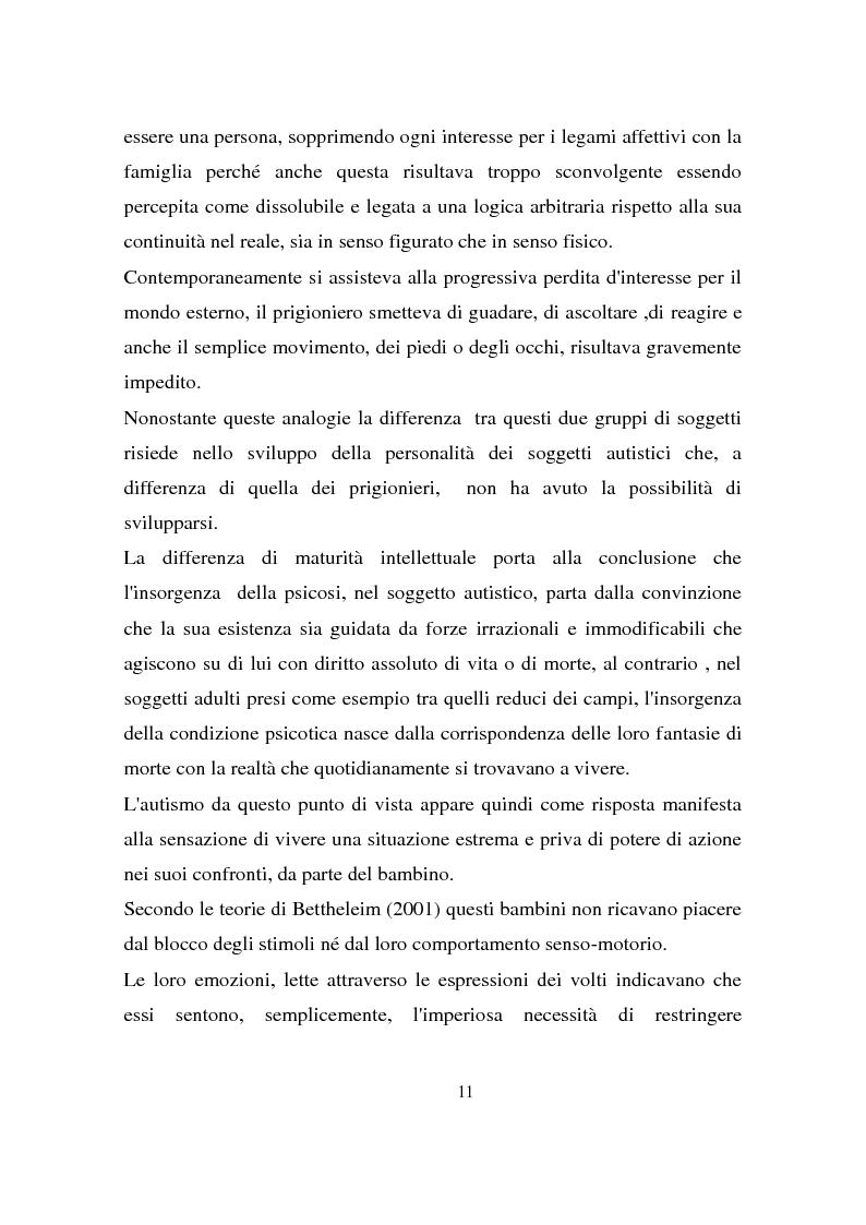 Estratto dalla tesi: Autismo: strategie d'intervento a confronto e alcuni aspetti psicofisiologici