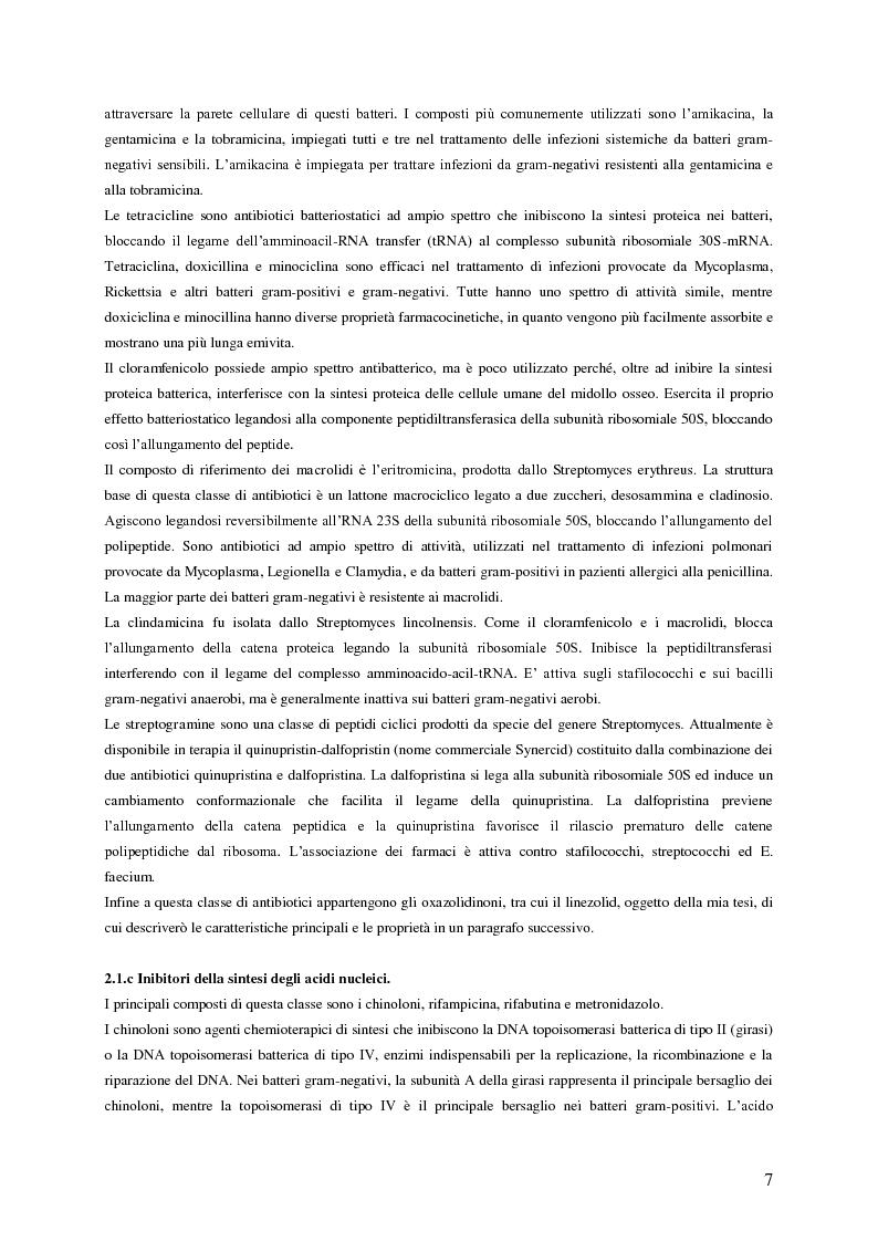 Anteprima della tesi: Sviluppo e applicazione di metodiche per il dosaggio plasmatico degli antibiotici linezolid e vancomicina mediante HPLC, Pagina 4