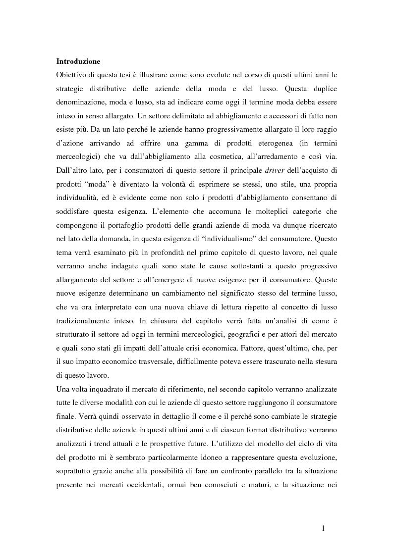 Anteprima della tesi: Il ciclo di vita del retail nella moda. Il caso Yoox., Pagina 2
