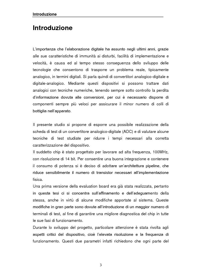 Problematiche relative alla caratterizzazione di un convertitore A/D pipeline 14bit 100MHz - Tesi di Laurea