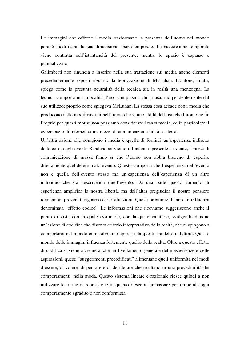 Anteprima della tesi: La vita on-line. Identità, socializzazione e psicopatologia di Internet, Pagina 8