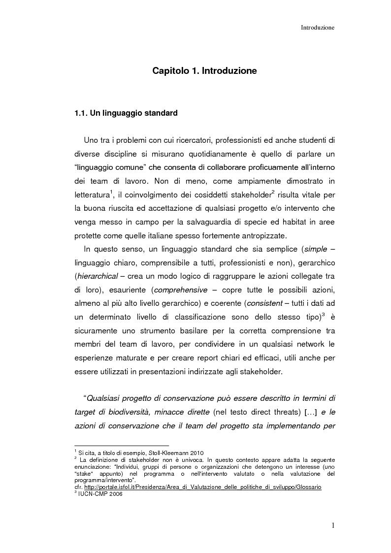 Classificazione standard delle Minacce Dirette IUCN-CMP nell'analisi della Riserva Naturale ?Grotta delle Farfalle? e ra...