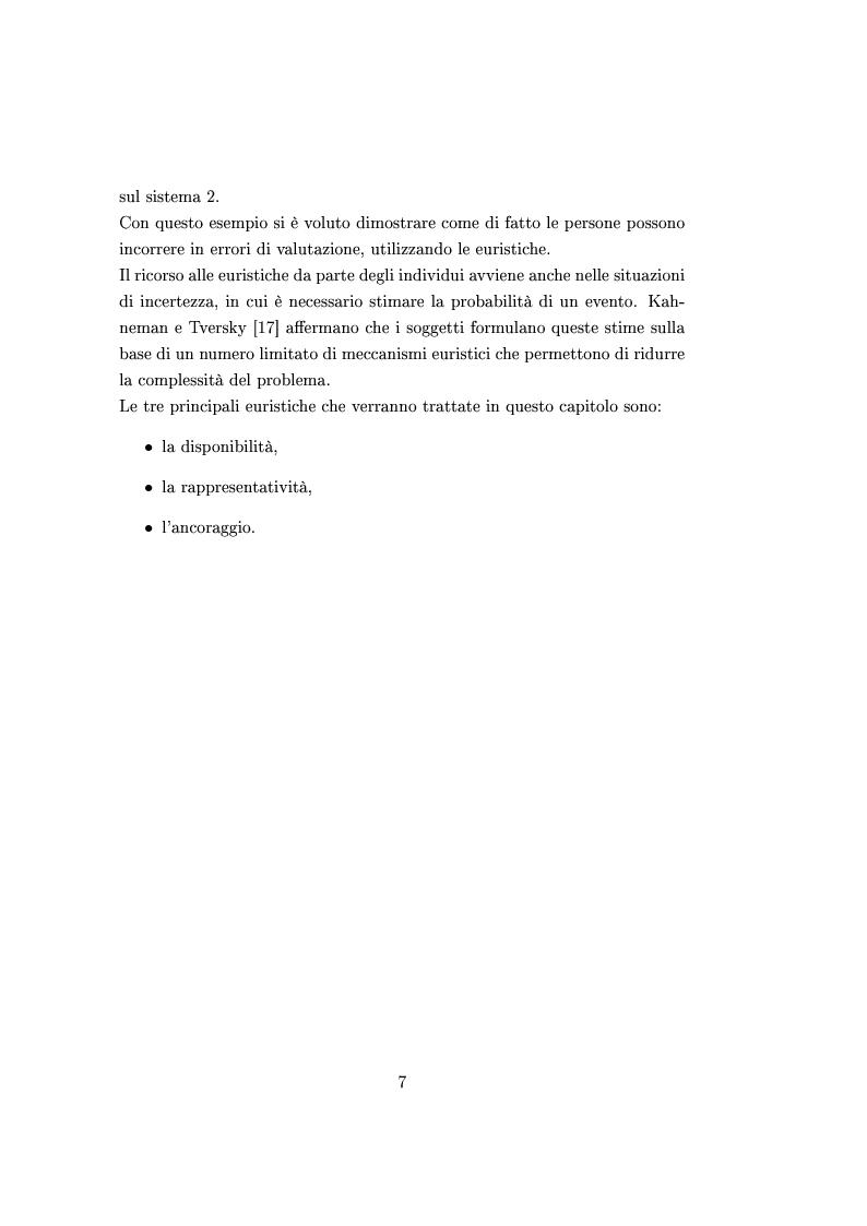 Anteprima della tesi: Finanza comportamentale e la valutazione del prezzo delle opzioni, Pagina 6