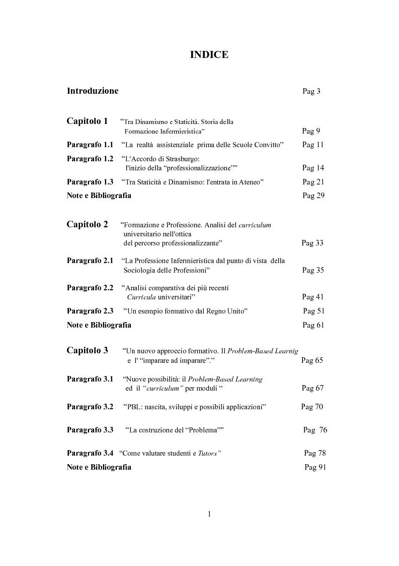 Il Curriculum Universitario Del Corso Di Laurea In Infermieristica