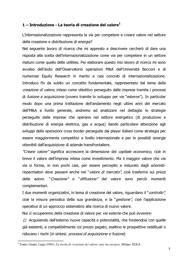 Anteprima della tesi: Le operazioni di M&A nel settore energetico: l'internazionalizzazione delle imprese italiane, Pagina 2