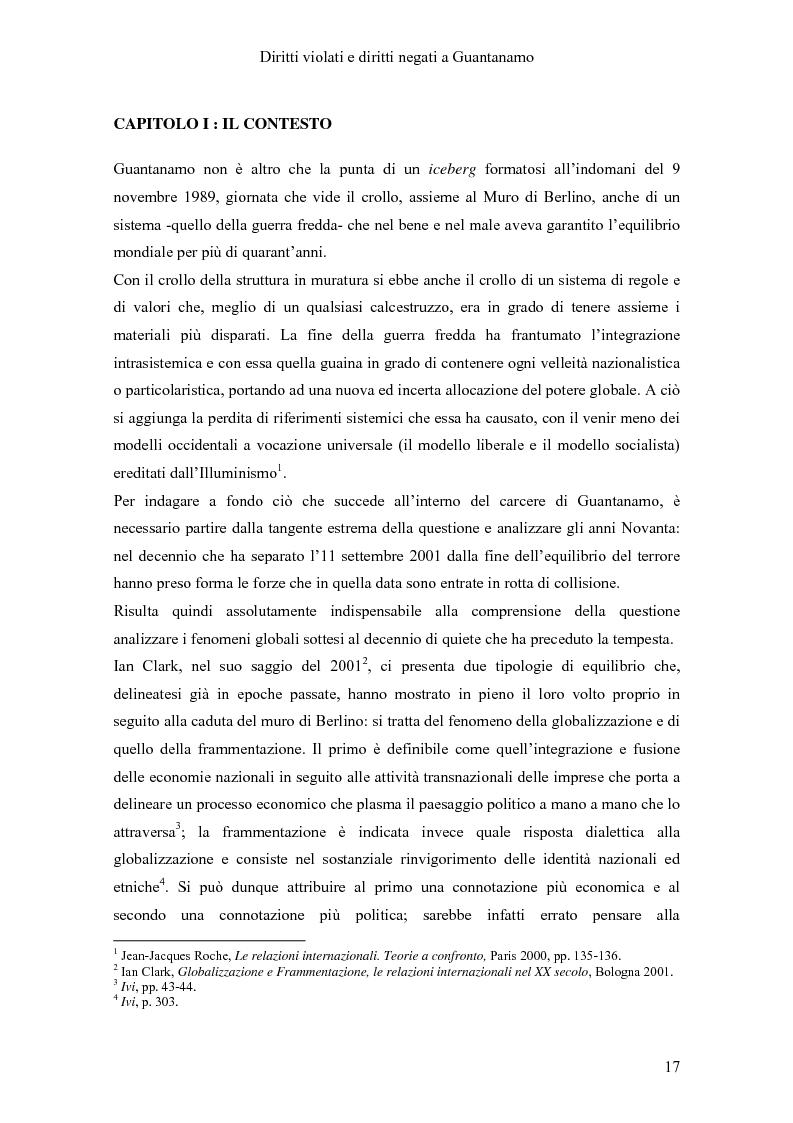 Anteprima della tesi: Diritti violati e diritti negati a Guantanamo, Pagina 6
