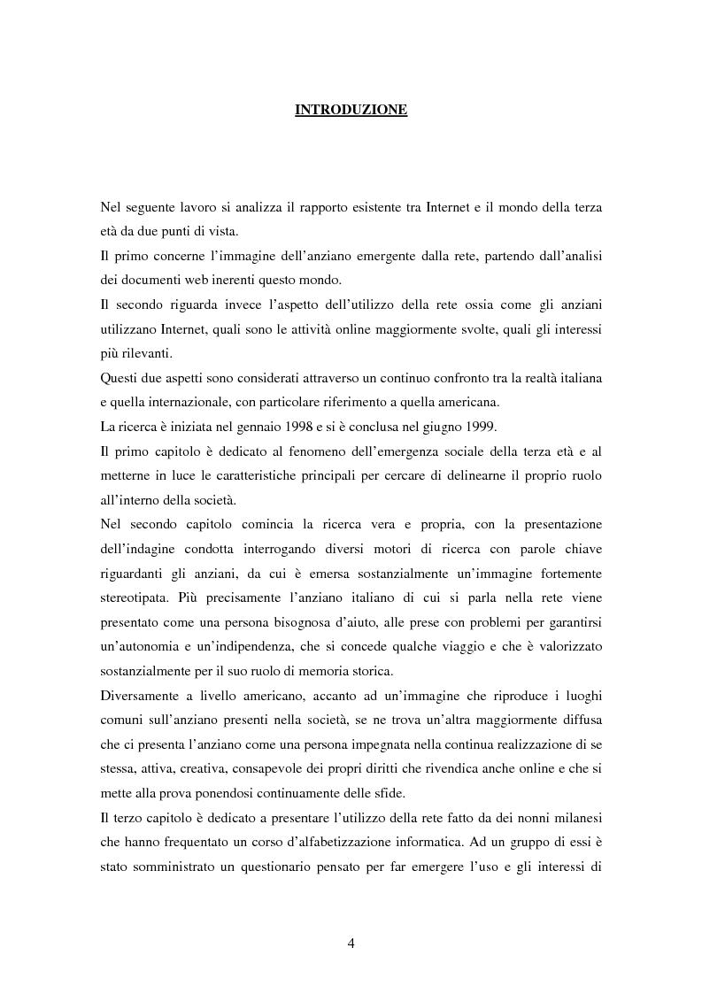 Anteprima della tesi: Internet e gli anziani: come la Rete rappresenta gli anziani e come gli anziani utilizzano la Rete, Pagina 2